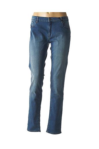 Jeans coupe slim bleu BONES OF GLORY pour femme