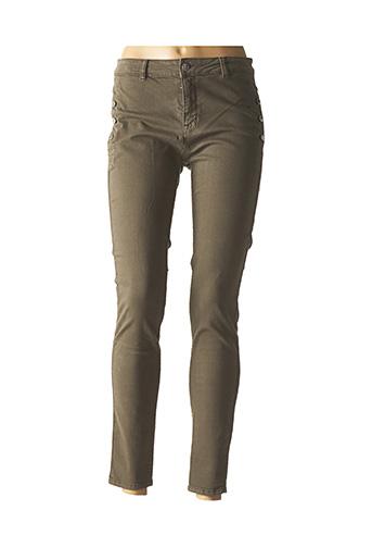 Pantalon casual vert ZAPA pour femme