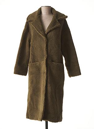 Manteau long vert LA FEE MARABOUTEE pour femme