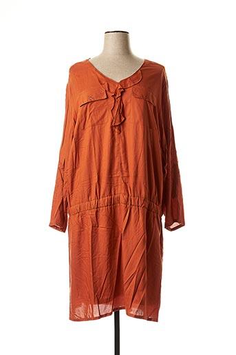 Robe mi-longue marron BLANCHEPORTE pour femme