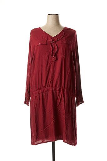 Robe mi-longue rouge BLANCHEPORTE pour femme