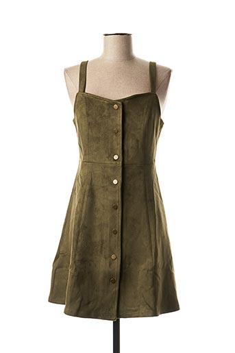 Robe mi-longue vert CACHE CACHE pour femme