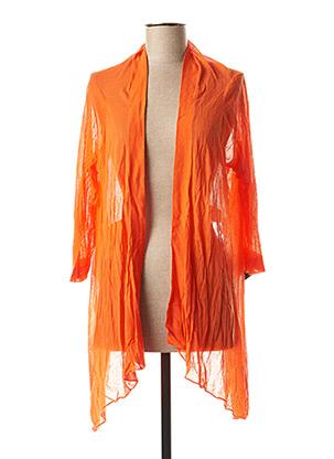 Gilet manches longues orange EXPRESSO pour femme