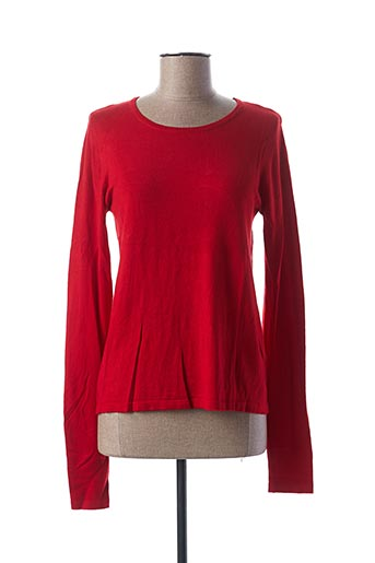 Pull col rond rouge COLLOSEUM pour femme