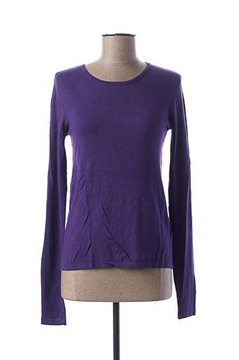 Pull col rond violet COLLOSEUM pour femme