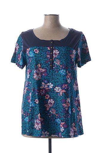 T-shirt manches courtes bleu BLANCHEPORTE pour femme