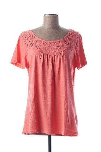 T-shirt manches courtes rose BLANCHEPORTE pour femme