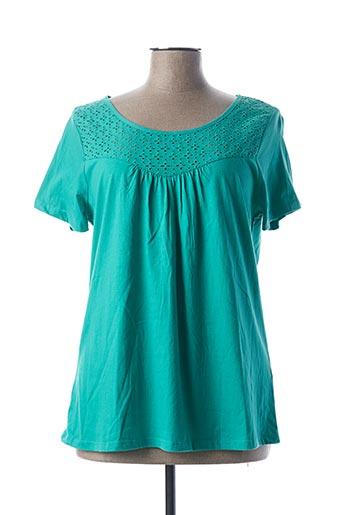 T-shirt manches courtes vert BLANCHEPORTE pour femme