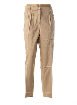 Pantalon casual beige BRUNO SAINT HILAIRE pour femme