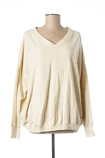 Sweat-shirt beige MUSTANG pour femme