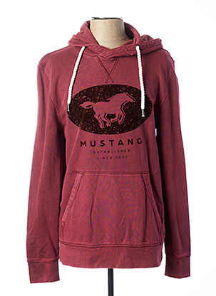 Sweat-shirt rouge MUSTANG pour homme