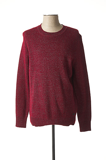 Pull col rond rouge MUSTANG pour homme