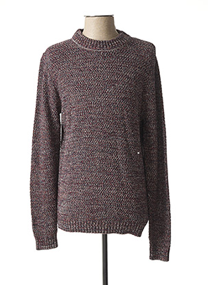 Pull col rond rouge TIBET pour homme