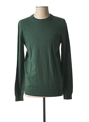Pull col rond vert TIBET pour homme