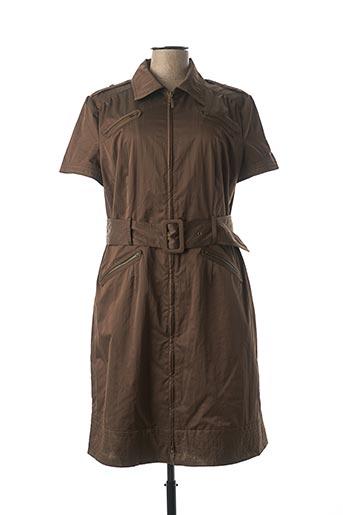 Robe mi-longue marron APRIORI pour femme