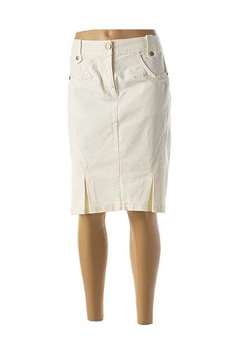 Jupe mi-longue blanc APRIORI pour femme