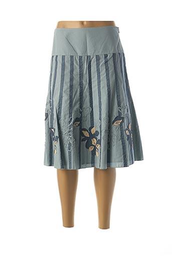 Jupe mi-longue bleu APRIORI pour femme