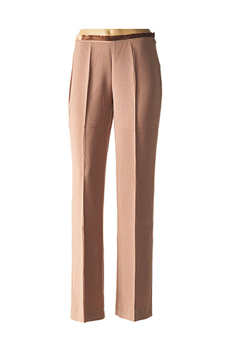 Pantalon chic marron DIDIER PARAKIAN pour femme