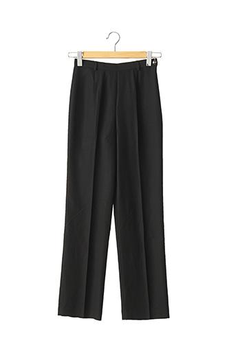 Pantalon chic noir DIDIER PARAKIAN pour femme