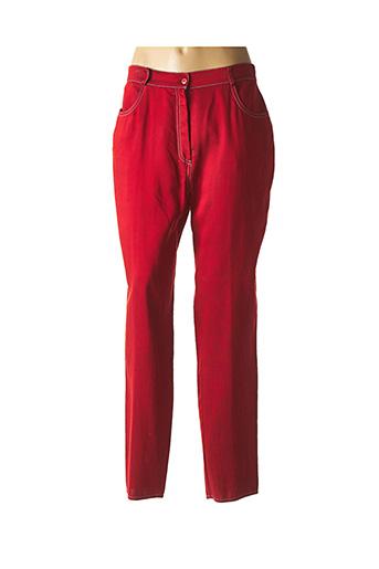 Pantalon casual rouge DIDIER PARAKIAN pour femme
