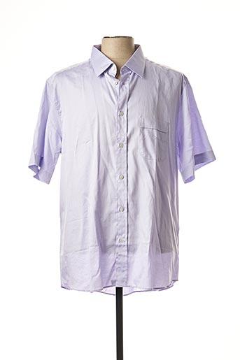Chemise manches courtes violet SMART pour homme