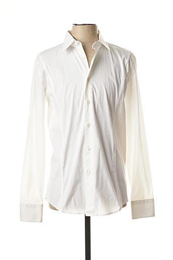 Chemise manches longues blanc BIKKEMBERGS pour homme