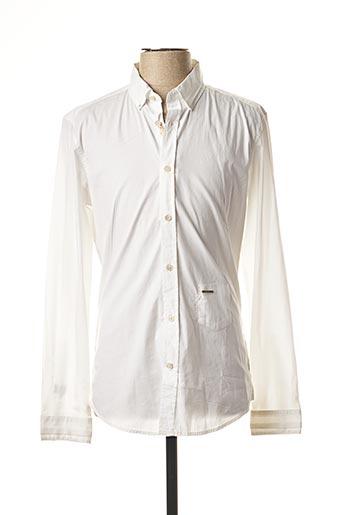 Chemise manches longues blanc DIESEL pour homme