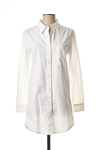 Chemise manches longues blanc EDWIN pour homme