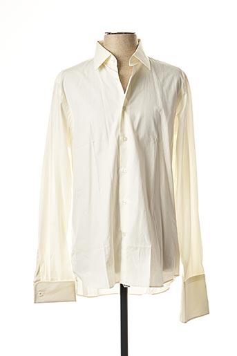 Chemise manches longues blanc SMART pour homme