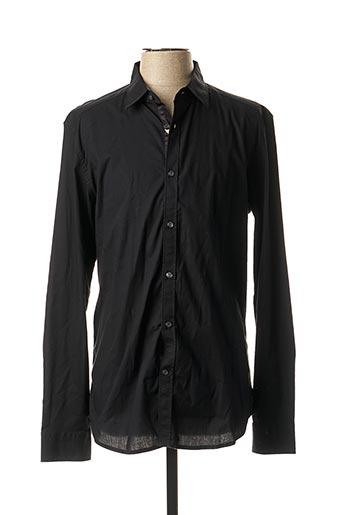 Chemise manches longues noir DIESEL pour homme