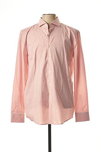 Chemise manches longues orange HUGO BOSS pour homme
