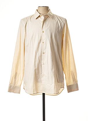 Chemise manches longues beige PAUL SMITH pour homme