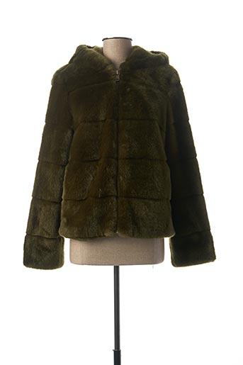 Manteau court vert BEAUMONT pour femme