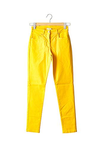 Pantalon casual jaune PAUL BRIAL pour femme