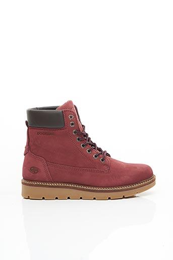 Bottines/Boots rouge DOCKERS pour femme