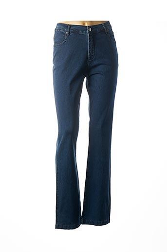 Jeans coupe slim bleu MARBLE pour femme