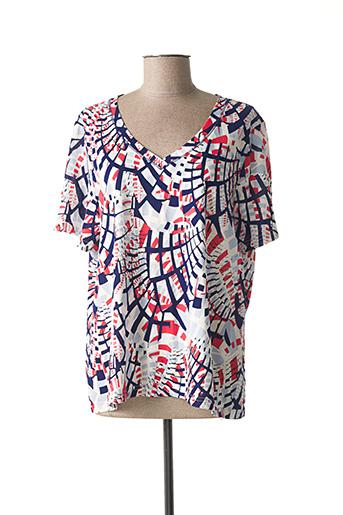 T-shirt manches courtes bleu PAUPORTÉ pour femme