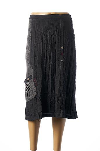 Jupe mi-longue gris JEAN GABRIEL pour femme