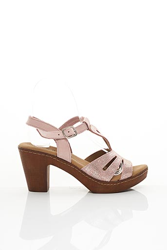 Sandales/Nu pieds rose BAERCHI pour femme
