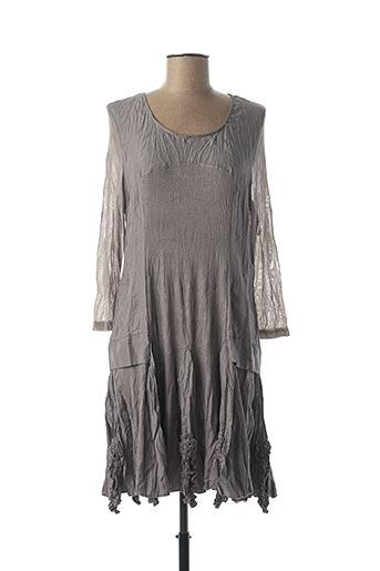 Robe courte gris FRANSTYLE pour femme