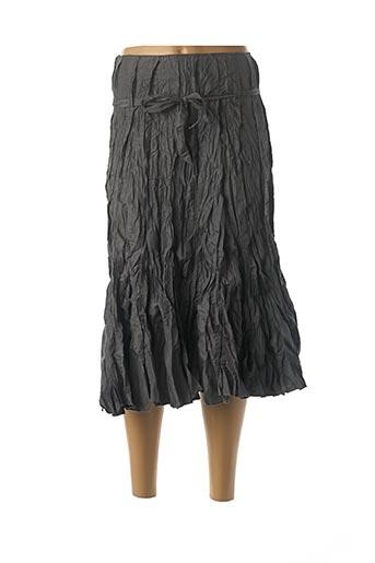 Jupe mi-longue gris FRANSTYLE pour femme
