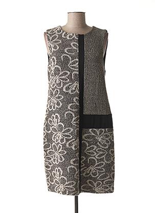 Robe mi-longue noir DIAMBRE pour femme