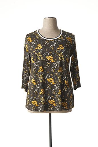 T-shirt manches longues marron CISO pour femme