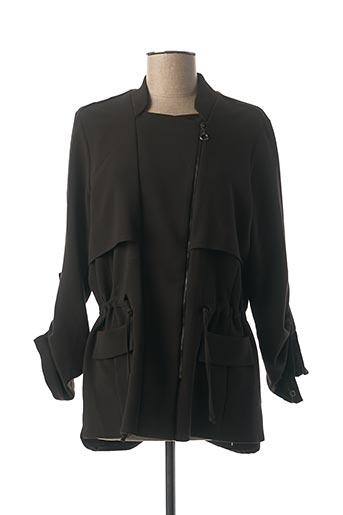 Veste casual noir FEMMES JE VOUS AIME pour femme