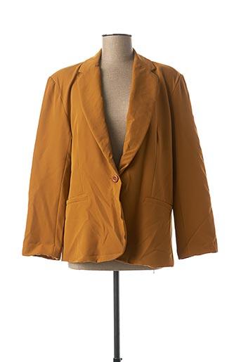 Veste chic / Blazer marron CHRISTY pour femme