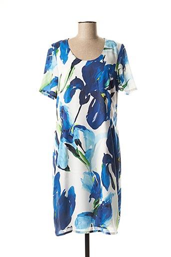 Robe mi-longue bleu JEAN DELFIN pour femme