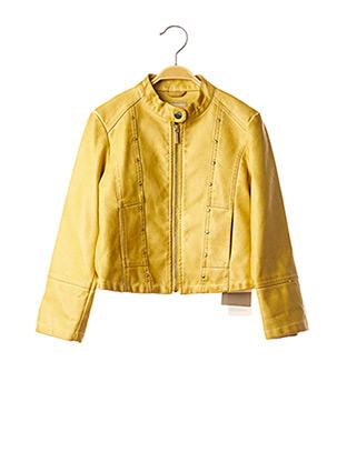 Veste simili cuir jaune MAYORAL pour fille