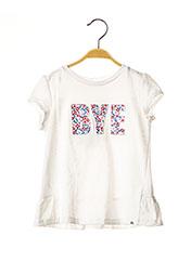 T-shirt manches courtes blanc MAYORAL pour fille seconde vue