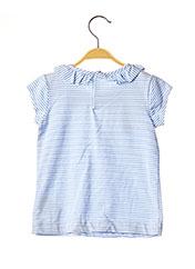 T-shirt manches courtes bleu MAYORAL pour fille seconde vue