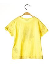 T-shirt manches courtes jaune MAYORAL pour fille seconde vue